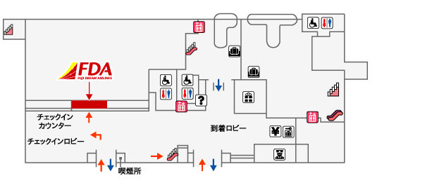 富士山静岡空港FDAチェックイン
