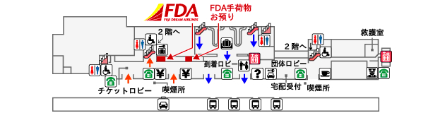 熊本空港FDAチェックイン