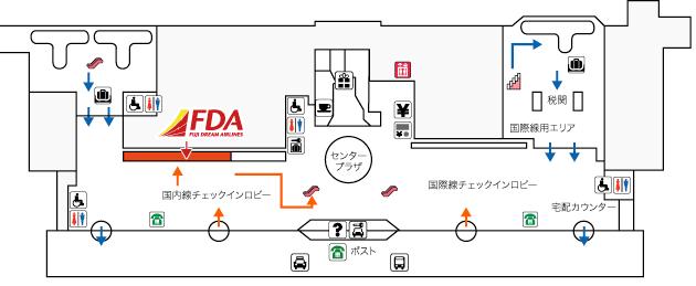 新潟空港FDAチェックイン