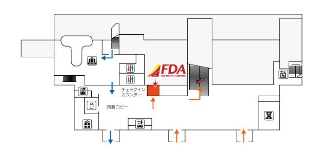 山形空港FDAチェックイン