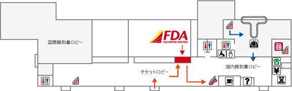 出雲空港FDAチェックイン