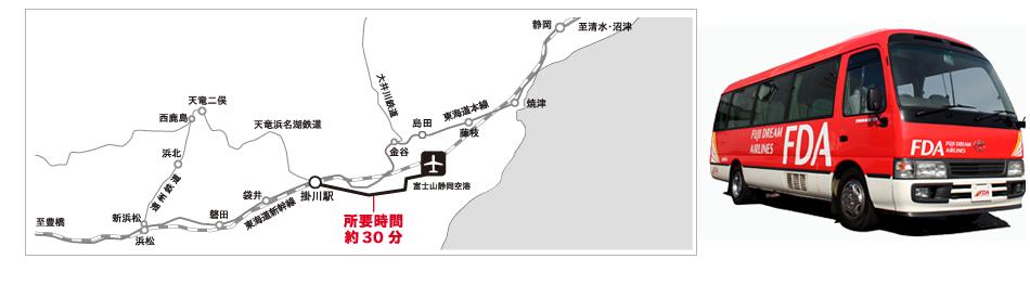 静岡無料アクセスバス地図